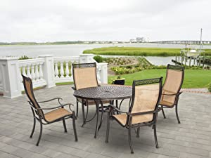 Hanover MANDN5PC-P Manor 5 Piece Outdoor Dining Set
