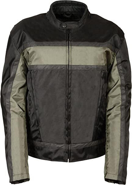 Black//Gray, XX-Large Milwaukee Performance SH2095-BKGRY-2X NexGen Mens Oxford Vented Textile Jacket with Removable Armor