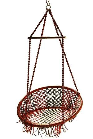 Novicz Cotton Swinging Chair (Multicolor)