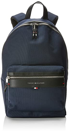 6c63cda7038 Tommy Hilfiger Elevated Backpack, Men's Blue (Tommy Navy/Core Stp),  14x47x28 cm (B x H T): Amazon.co.uk: Shoes & Bags