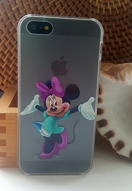 Cute Kids Disney duro Claro Transparente TPU Case Back, (Minie ...