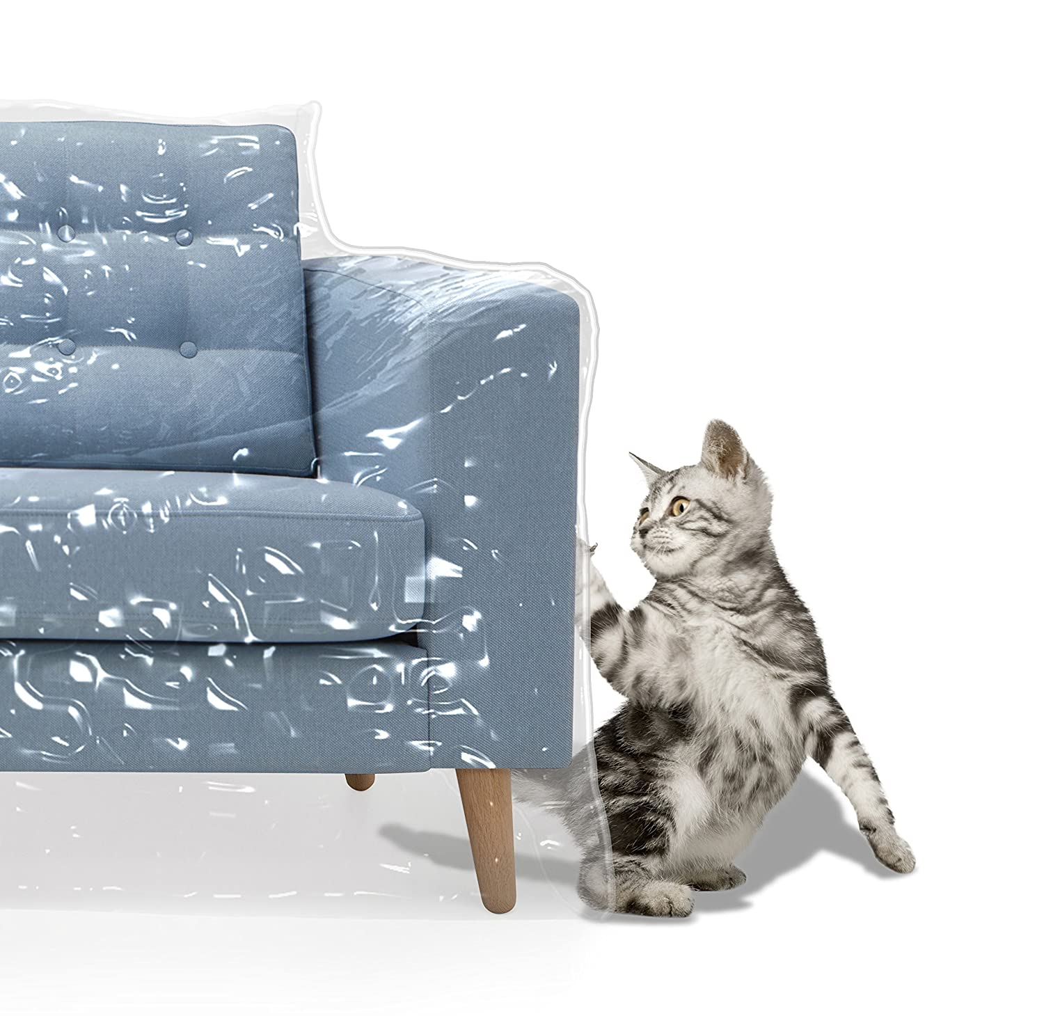 Plastic Recliner Armchair Cover For Pets Cat Scratching Protector