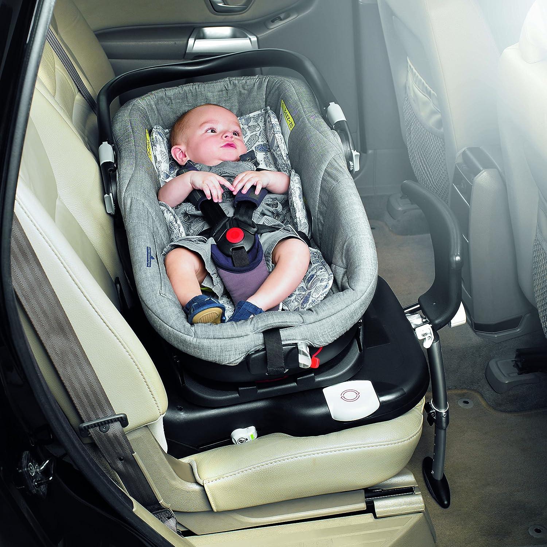 Babystyle Oyster 3 Noir Babyschale mit Tragetasche und Fu/ßsack f/ür Babyschale und Isofix-Basis