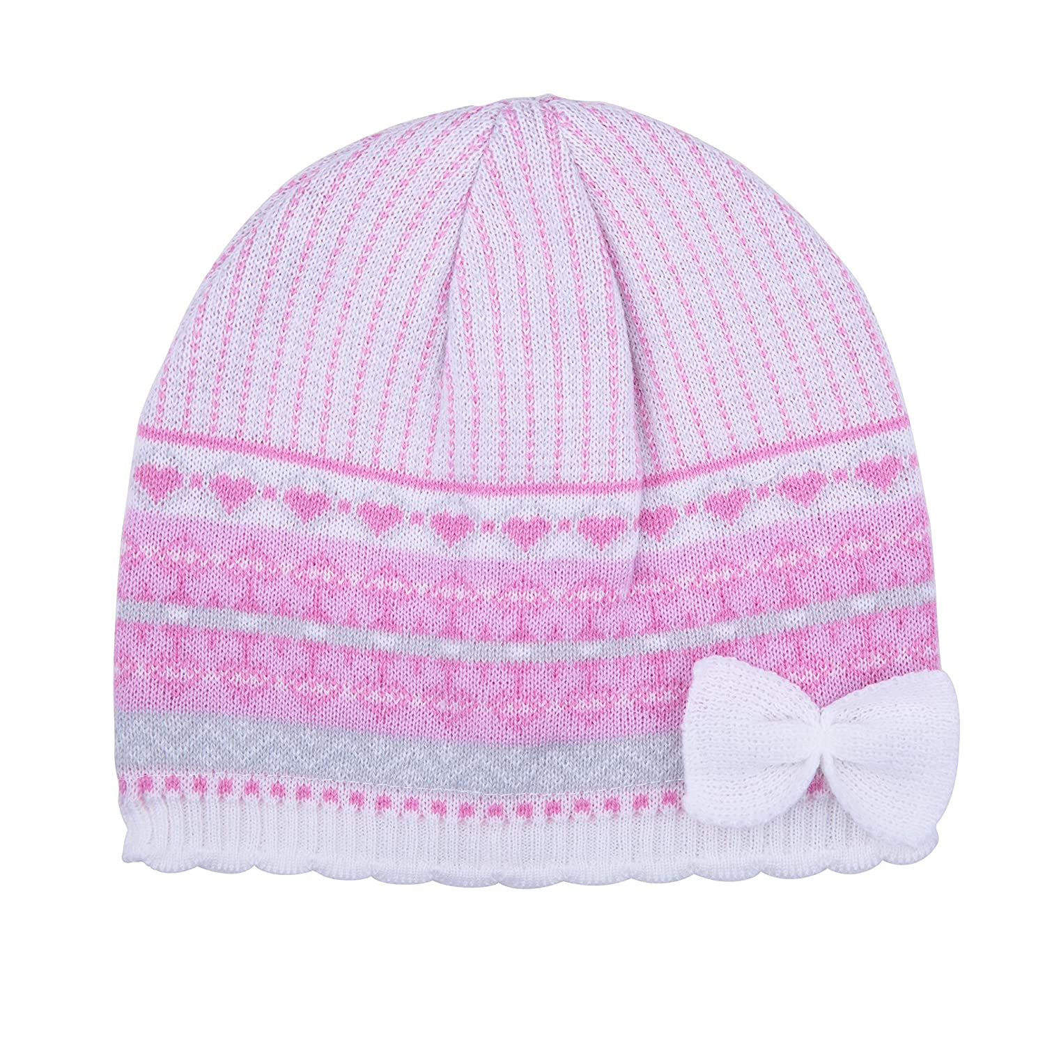 Pengoodles Jacquard Knit Hat with Bow 107