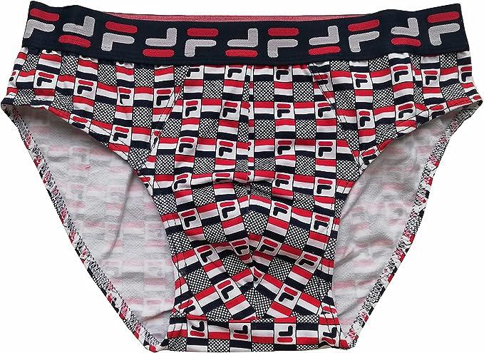 Fila Fu5060 - Calzoncillos tipo slip, para hombre, de algodón elástico, paquete de 2: Amazon.es: Ropa y accesorios