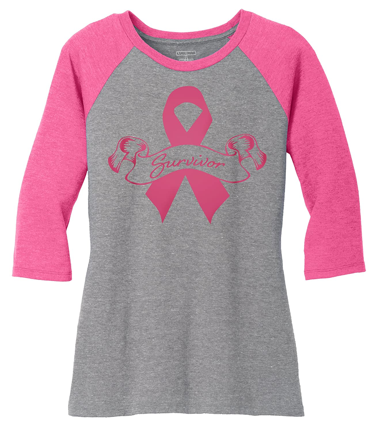 0ad43dd3 Breast Cancer Awareness baseball tees with various designs printed on  front. If you choose the Custom I Wear Pink or Custom Ribbon tee, choose  your size ...