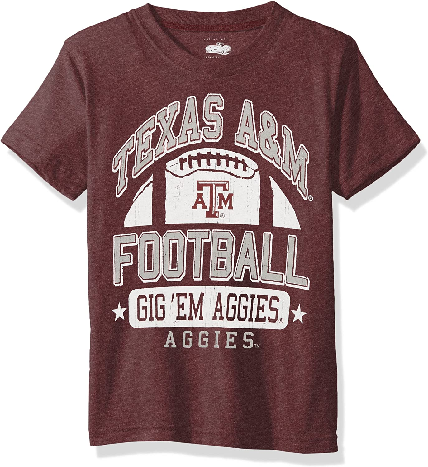 Outerstuff NCAA Texas A/&M Aggies Toddler Flannel Script Short Sleeve Tee Heather Grey 2T