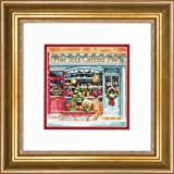 "Dimensions Gold Collection #70-08973 Coffee Shoppe Counted Cross Stitch Kit 6"" x 6"", 18 Count White Aida Cloth"