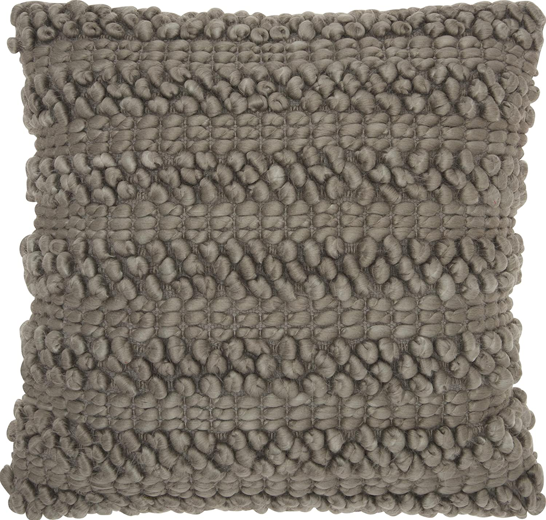Nourison Mina Victory Dc827 Life Styles Woven Stripes Throw Pillow 20 X 20 Silver Grey Home Kitchen