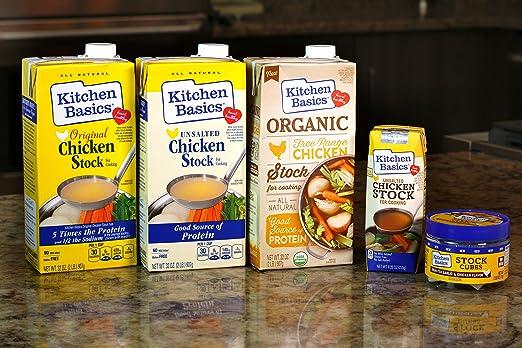 Amazon Kitchen Basics No Salt Chicken Stock 32 Oz Vegetable