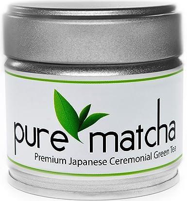 Pure Matcha Polvo De Té Verde Matcha De Grado Ceremonial Premium Origen Japonés Primera Cosecha Amazon Com Grocery Gourmet Food