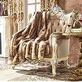"Lindsey Home Fashion Faux Fur Throw, Fur Blankets Super Soft Japanese Kanekalon Fiber, Sheepskin, Mink, Wolf, Bear, 60""x80"", 60""x70"", 50""x60"" 14 Colors (60x70(INCH), Purple Lynx Faux fur)"