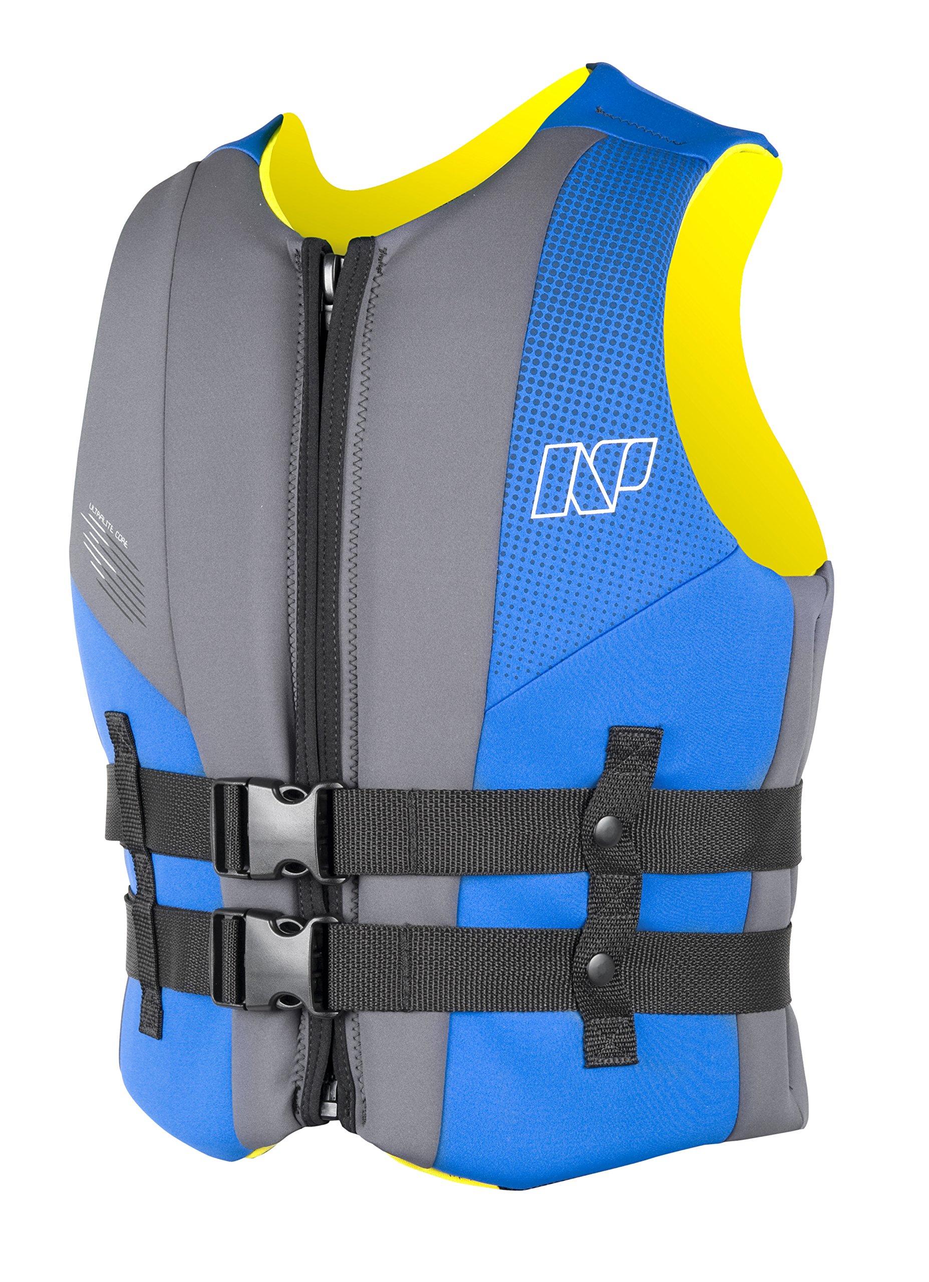 NP Surf USCG Neoprene Multi Sport Flotation Vest, Blue/Grey, Medium