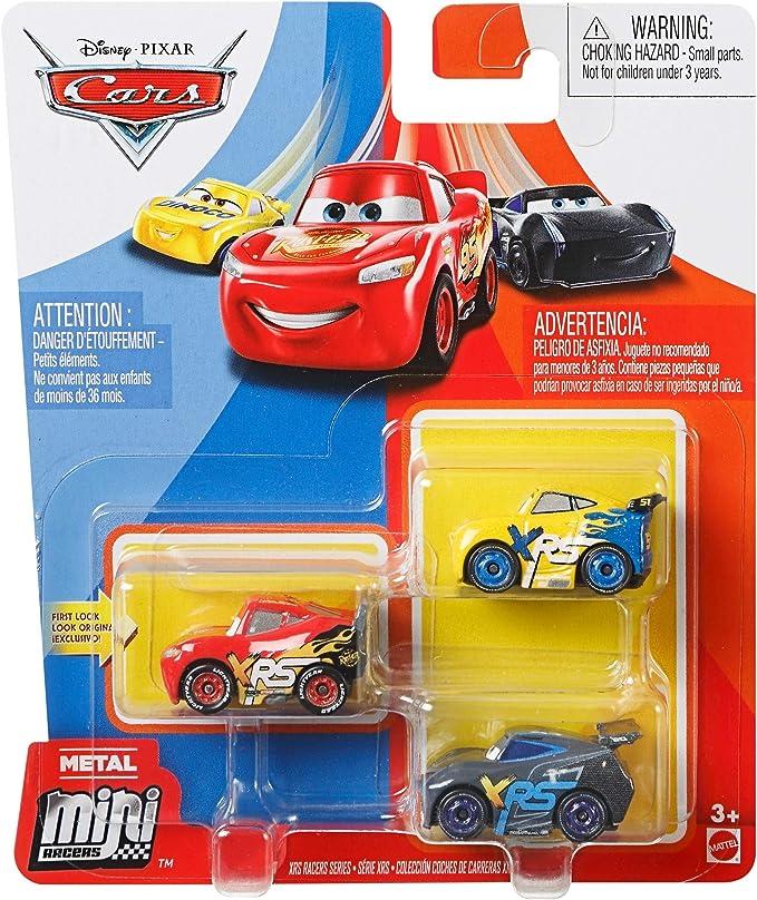 Cars - Mini Racers XRS Pack de 3 coches de juguete, modelos surtidos (Mattel GKG20): Amazon.es: Juguetes y juegos