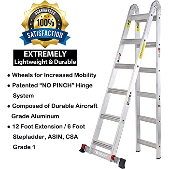 Workman Ladders 17 Foot Multi Configuration A-Frame and Extension ...