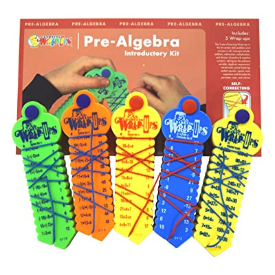 Learning Wrap-ups Pre-Algebra Intro Kit Self Correcting Math Problems: Toys & Games