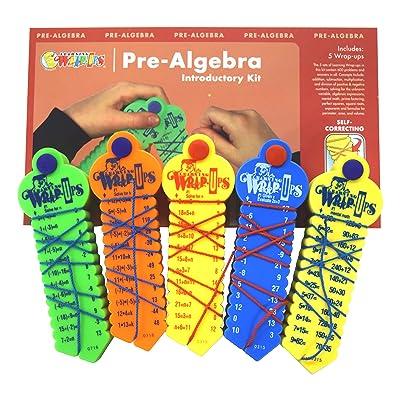 Learning Wrap-ups Pre-Algebra Intro Kit Self Correcting Math Problems: Toys & Games [5Bkhe0503637]