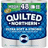 Quilted Northern Ultra Soft and Strong Toilet Paper, Mega Rolls, 12 Count of 328 2-Ply Sheets Per Roll