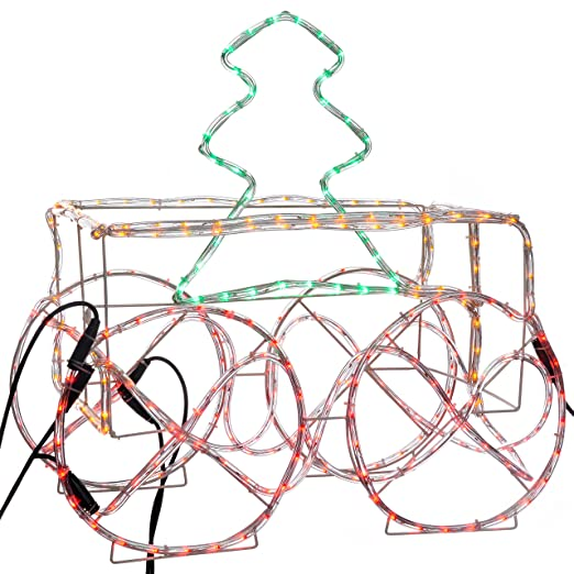 Werchristmas led animated connectable tree in train carriage 3d rope werchristmas led animated connectable tree in train carriage 3d rope light silhouette 45 cm aloadofball Images