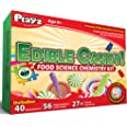 Playz Edible Candy! Food Science STEM Chemistry Kit - 40+ DIY Make Your Own Chocolates and Candy Experiments for Boy, Girls,
