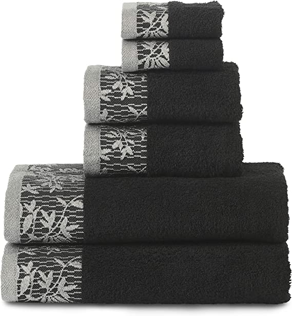 Superior Wisteria 6-Pieces Towel Sets