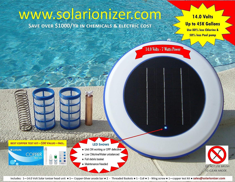 Amazon.com : Solar swimming pool Ionizer with LED (Lights up ...