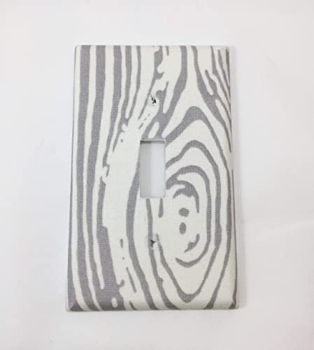 Amazoncom Wood Grain Fabric Covered Single Light Switch Cover