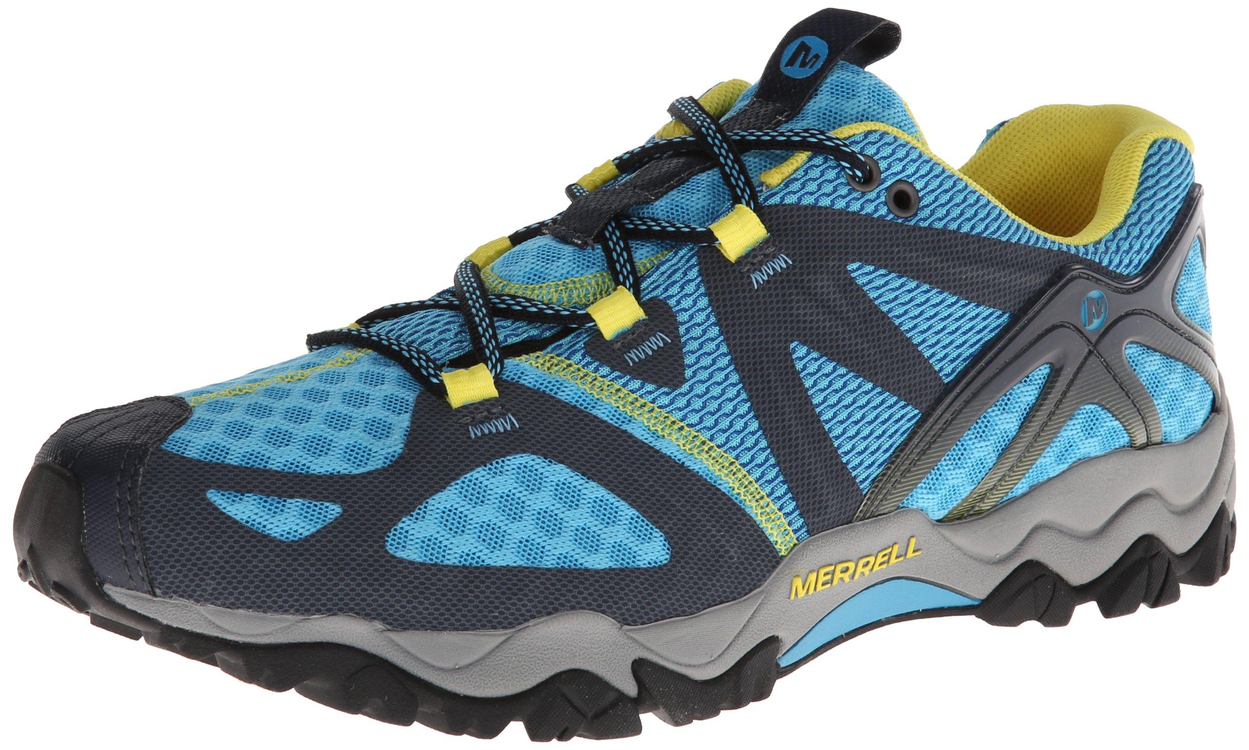 Merrell Women's Grassbow Air Trail Running Shoe,Blue/Navy,6 M US