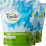 Amazon Brand - Presto! 94% Biobased Laundry Detergent Packs, Hypoallergenic and Fragrance Free, 90 Loads, 45 Count (Pack of 2