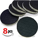 """SlipToGrip"" 8 Pack Furniture Grippers by iPrimio - Furniture Non-Slip Pads 2"" Round with 3/8"" Heavy Duty Felt Core. No Adhesive. No Nails. Won't Harm Floors. Patent Pending"