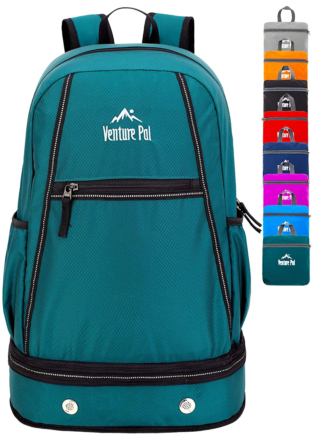Venture Pal 35L Lightweight Packable Hiking Backpack with Wet Pocket Shoes Compartment Travel Backpack for Men and Women
