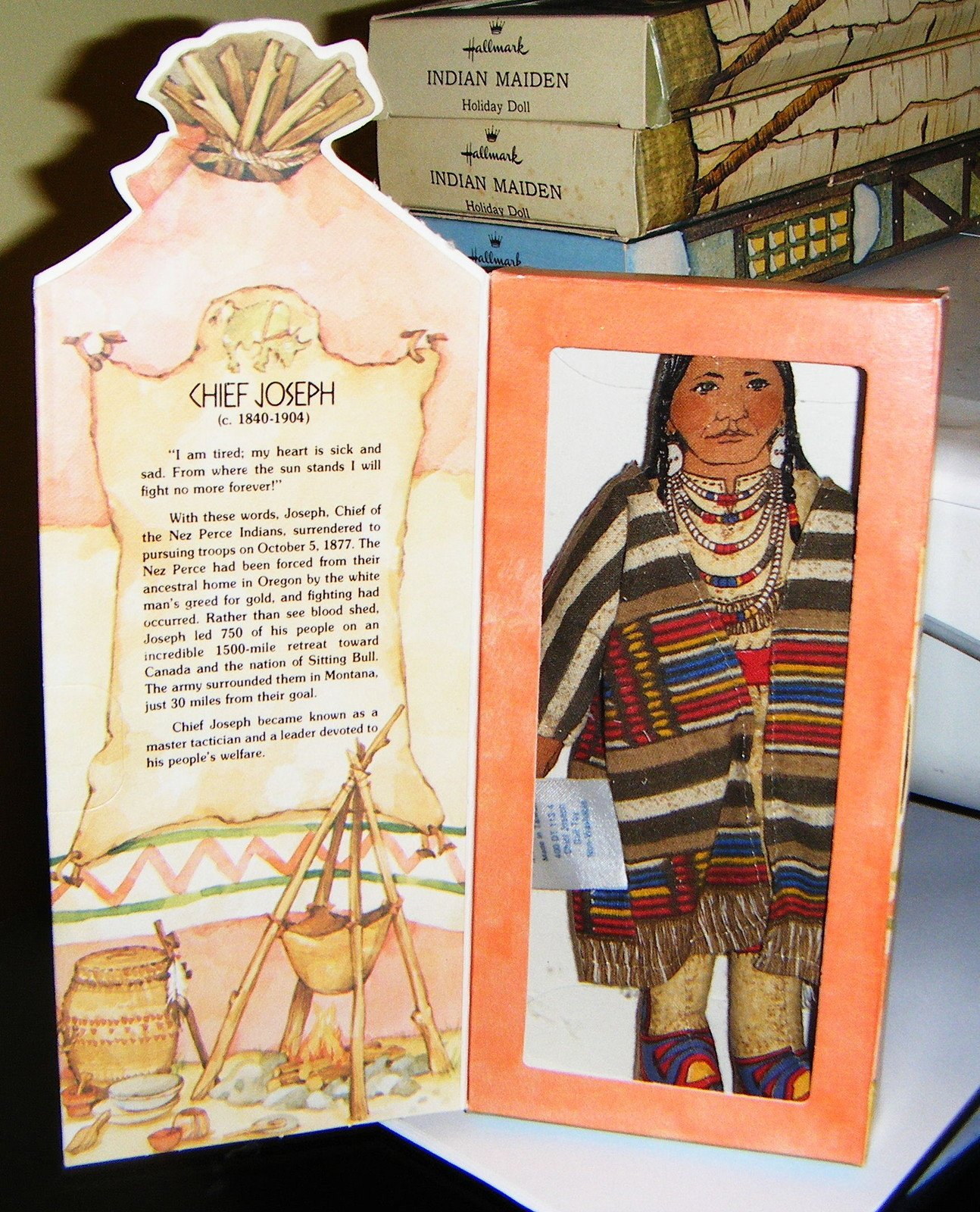 Hallmark Collectible Doll - Chief Joseph, Famous Americans Series 1