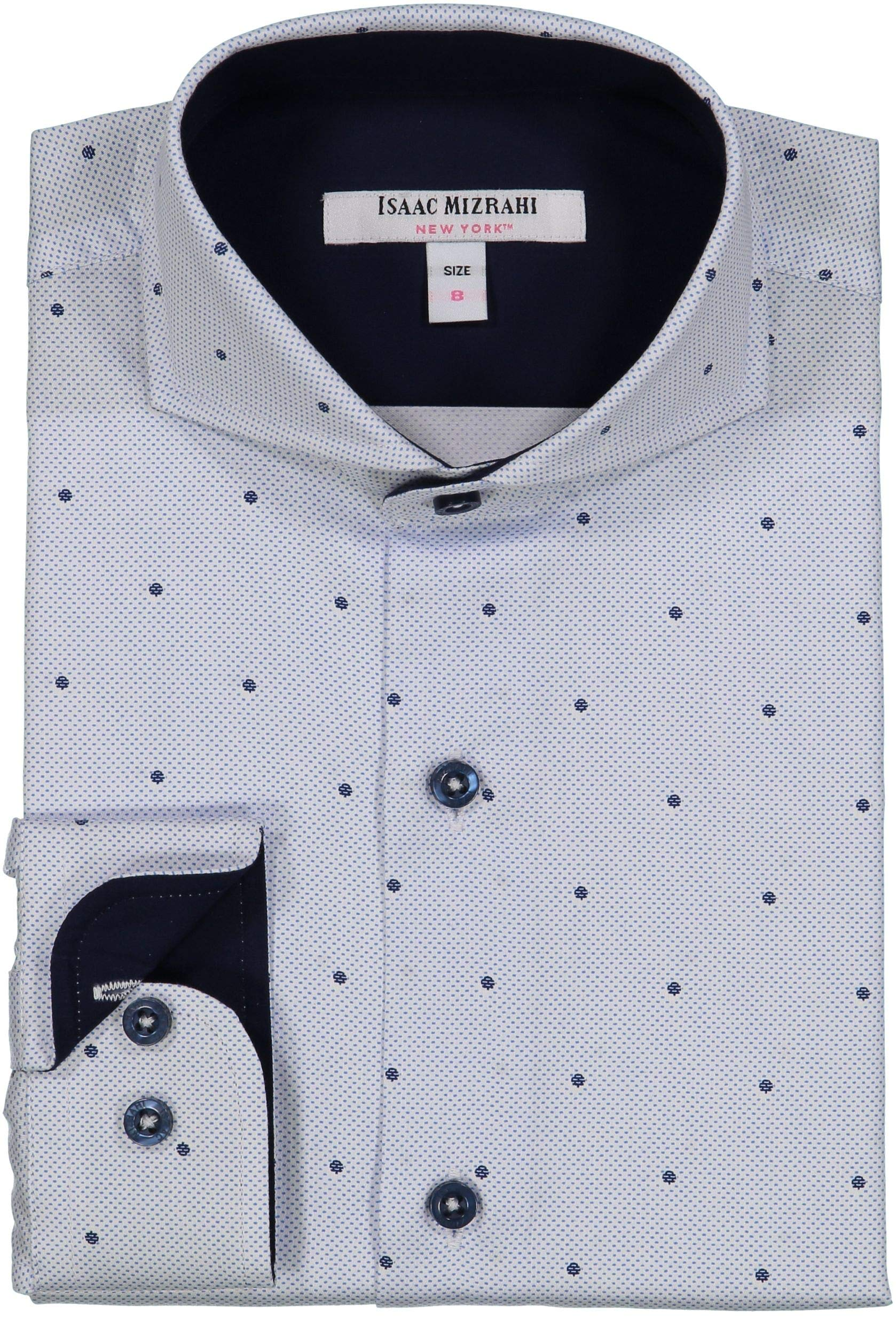 Buy Your Ties Boys 100% Cotton Designer Fashion Dress Shirt - Many Colors and Pattern Available White Navy