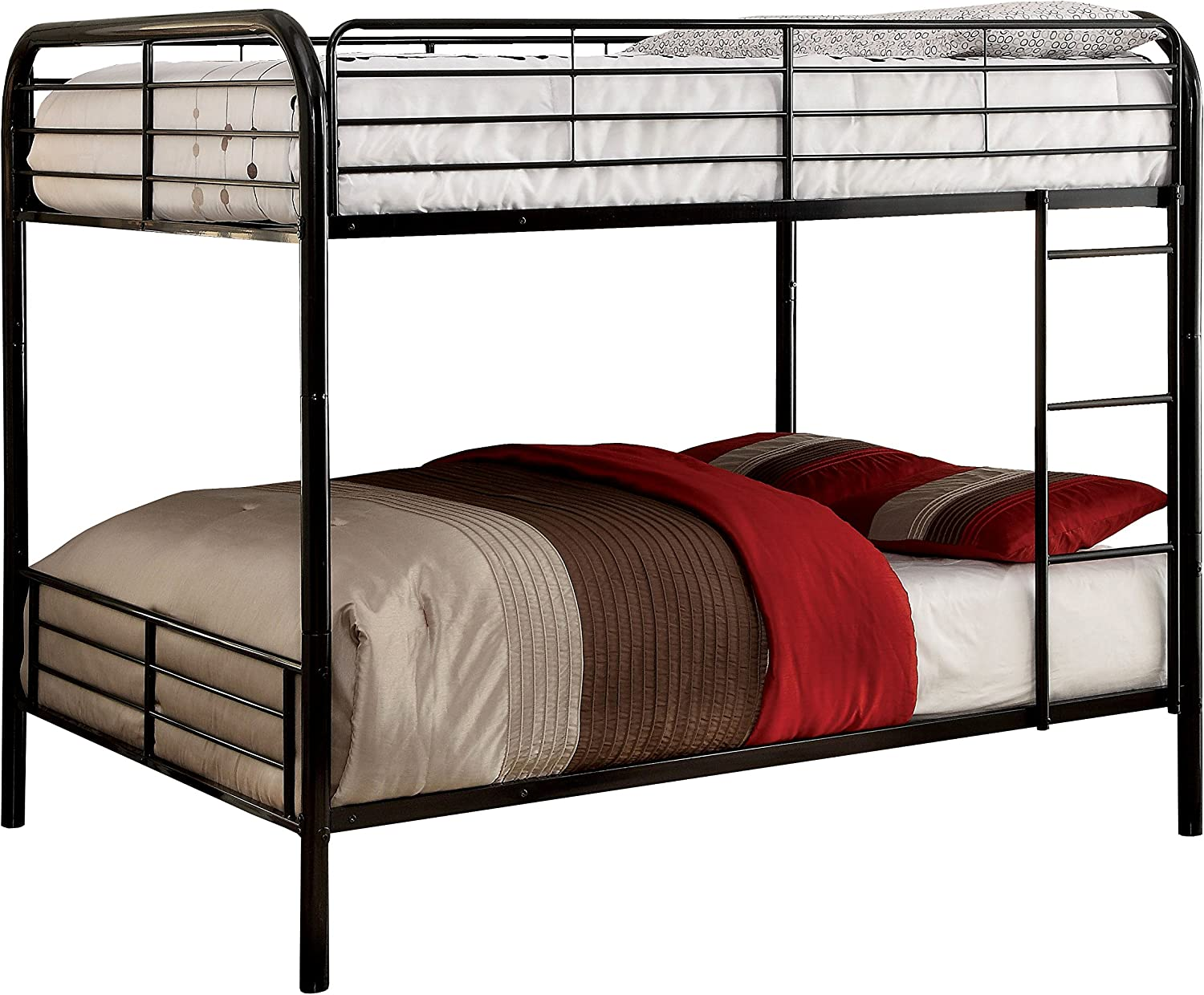 Amazon Com Homes Inside Out Iohomes Winston Separable Bunk Bed Twin Black Furniture Decor