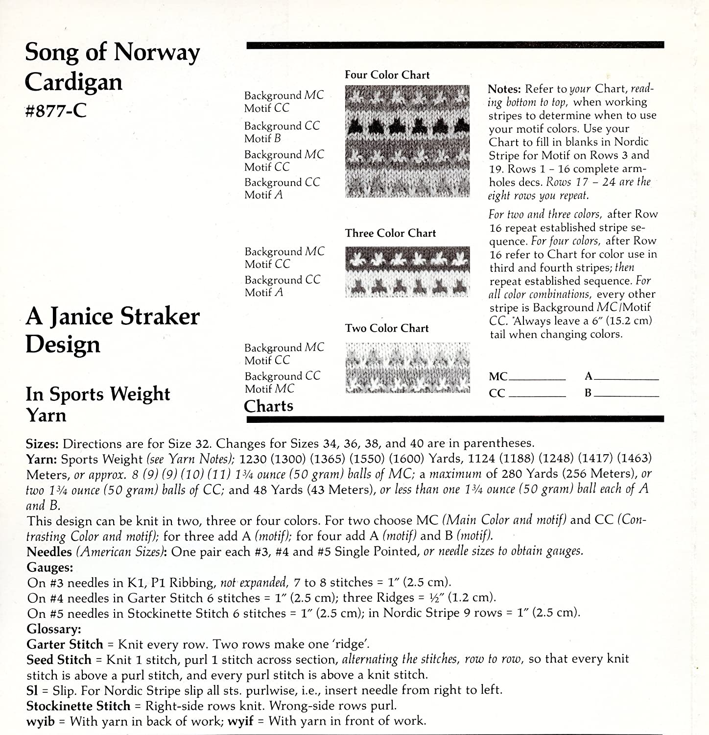 Amazon a straker classic design knitting pattern 877 c amazon a straker classic design knitting pattern 877 c song of norway cardigan arts crafts sewing nvjuhfo Gallery