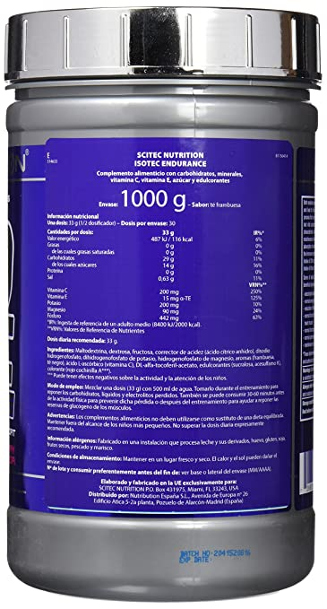 Amazon.com: Scitec Nutrition ISOTEC ENDURANCE 1000g Raspberry Ice Tea by Scitec Nutrition: Health & Personal Care