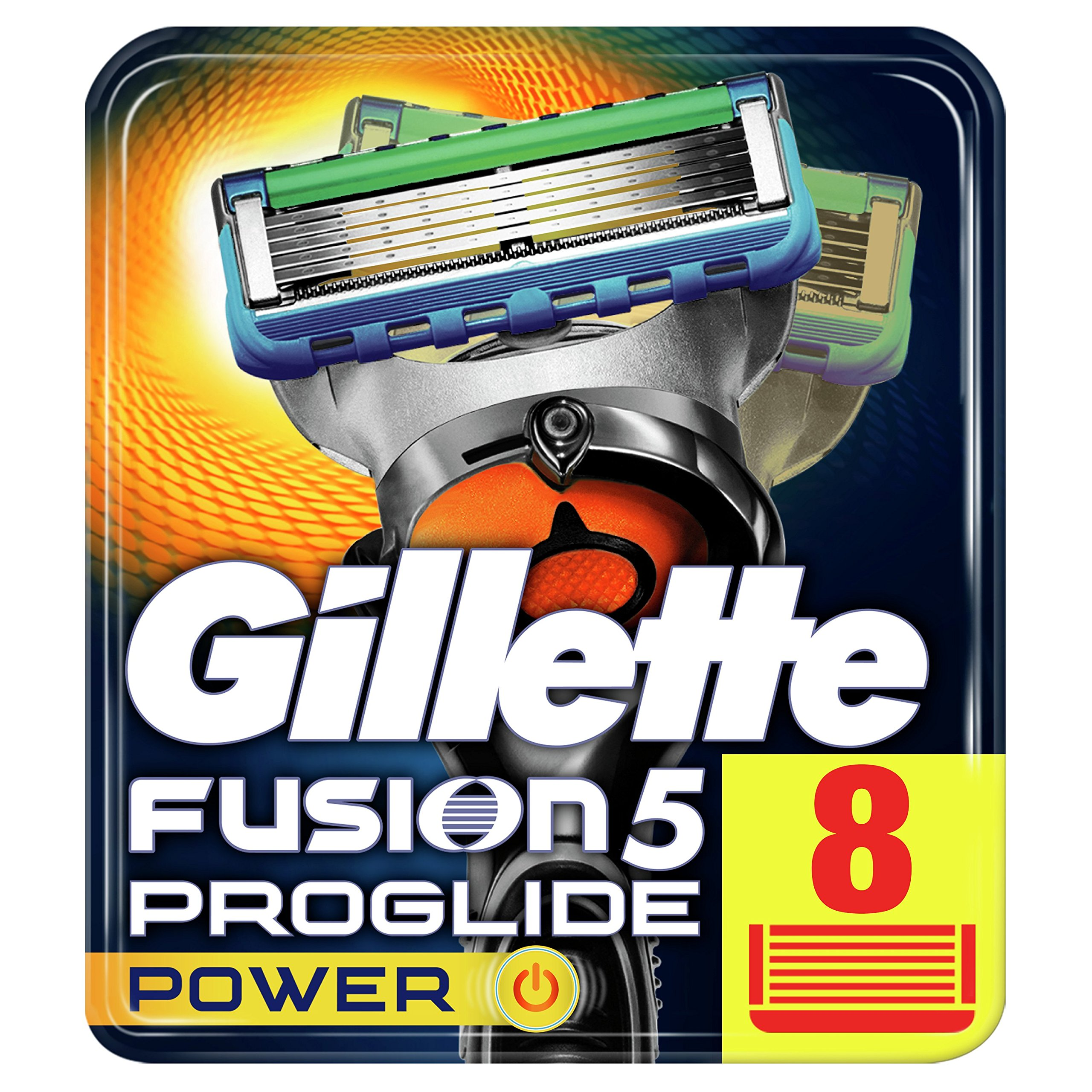Gillette Fusion5 ProGlide Power Razor Blades for Men with FlexBall Technology That Responds to Contours, 8 Refills (Packaging May Vary) product image