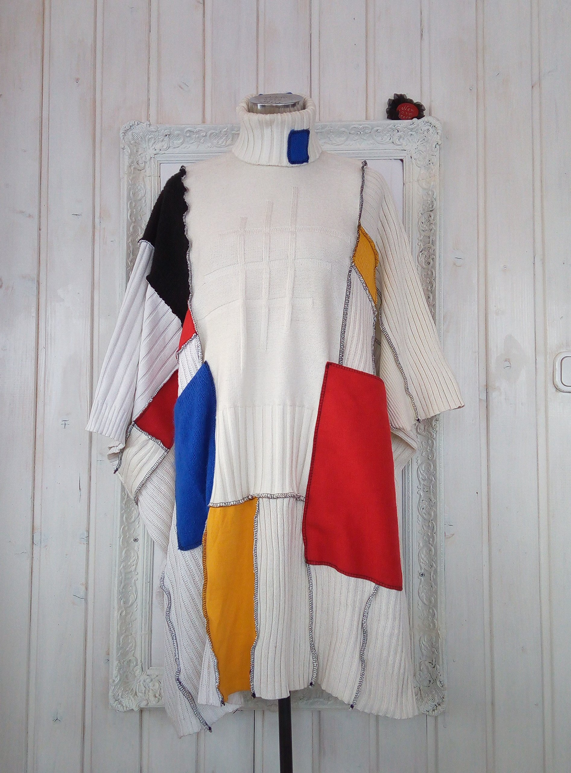 Art to wear All sizes Woolen Poncho Coat One of a kind
