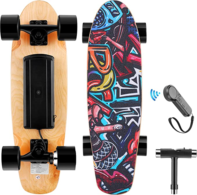 WOOKRAYS Electric Skateboard for Adult, Teens, and Kids