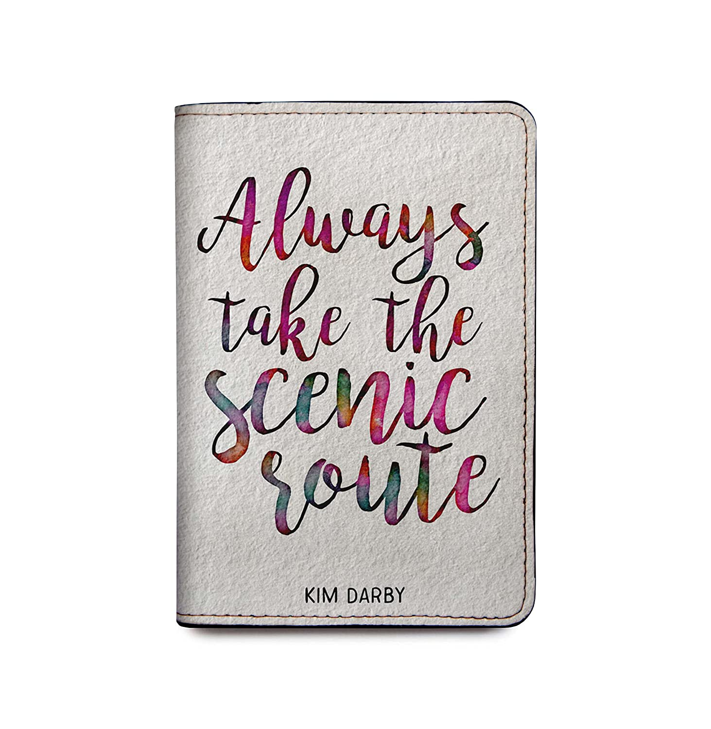 dc13d3a06cff Personalized RFID Leather Passport Cover Wallet -Always Take The Scenic  Route