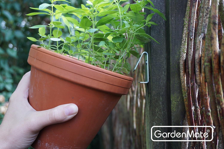 GardenMate/® 12x Blumentopfhalter aus verzinktem Stahl