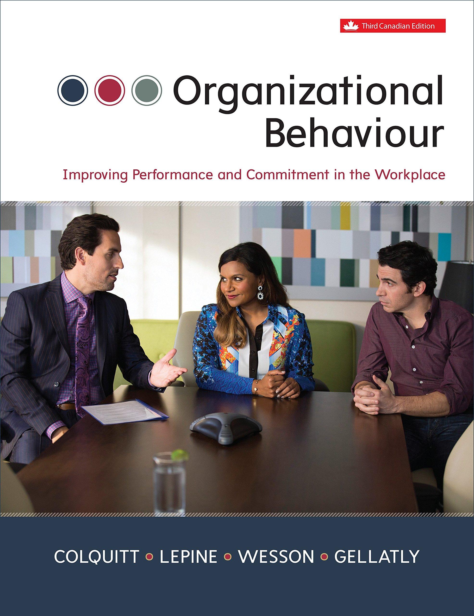 Organizational behaviour, third cdn edition: robert kreitner.