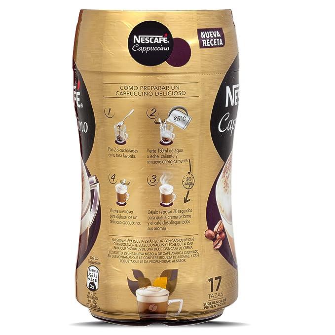 NESCAFÉ Café Cappuccino | Bote | 5 Botes de 250g de café - Total: 1,25Kg: Amazon.es: Alimentación y bebidas