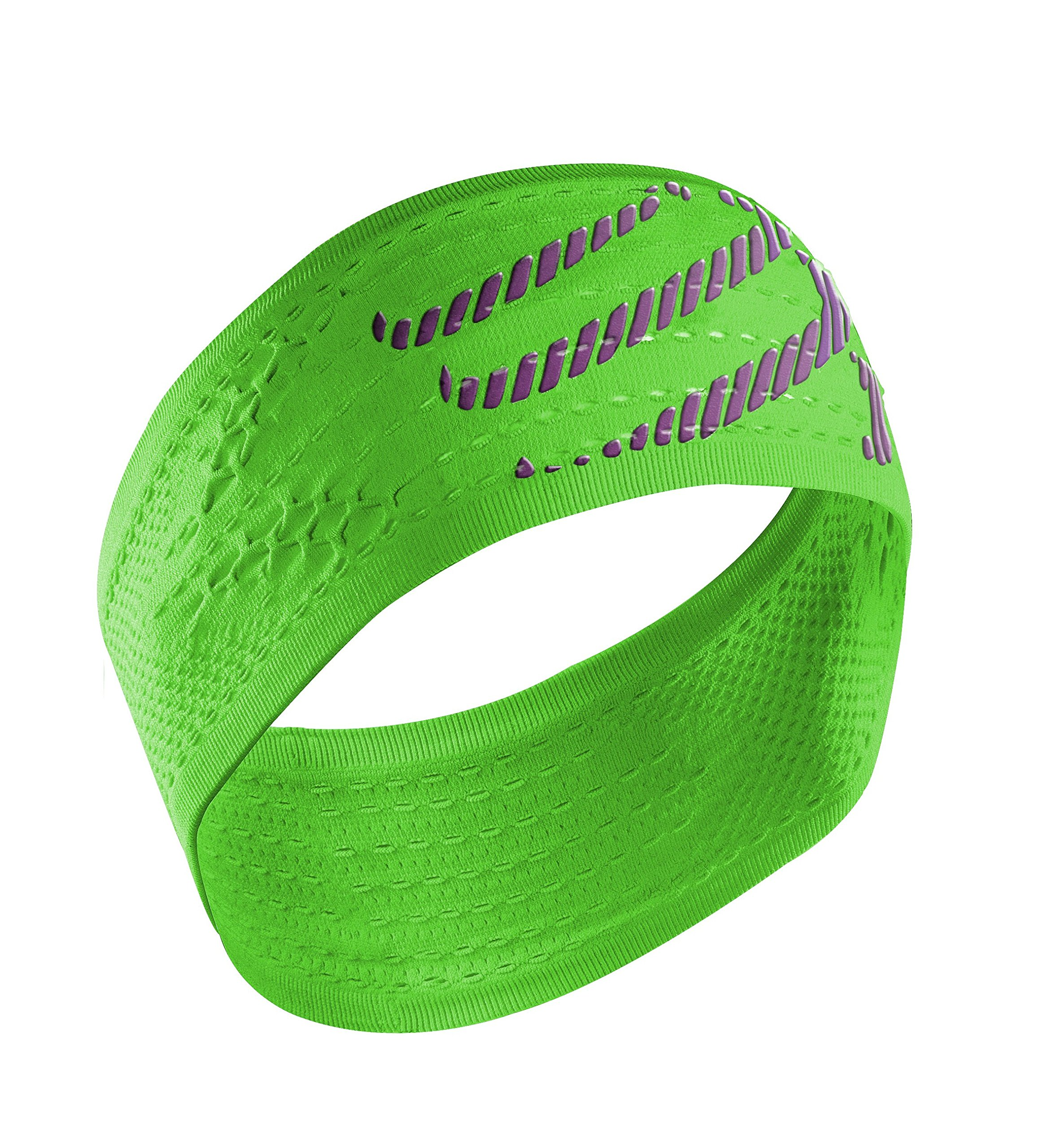 Compressport Headband On/Off - Cinta de Cabeza Unisex, Color Verde, Talla única