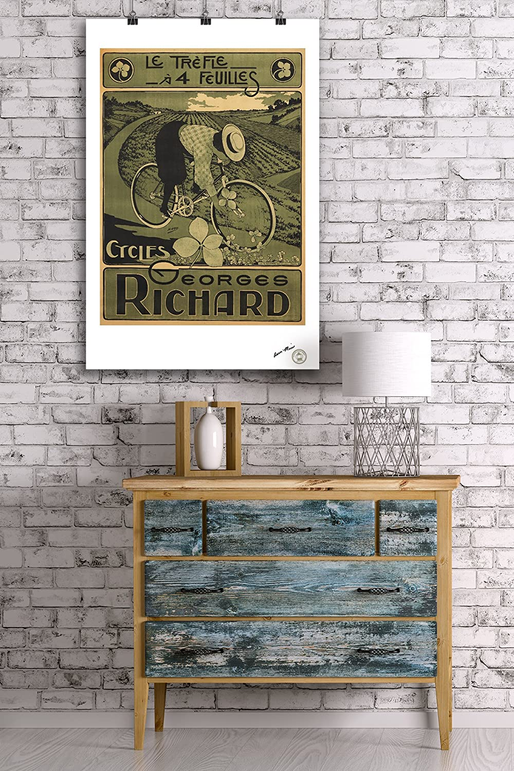 France c 24x36 Giclee Gallery Print, Wall Decor Travel Poster artist: Gray 1895 Cycles Georges Richard Vintage Poster