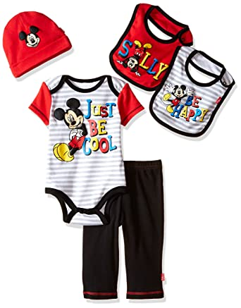 10fd3479daaf Disney Baby Mickey Mouse 5 Piece Layette Box Set  Amazon.in ...