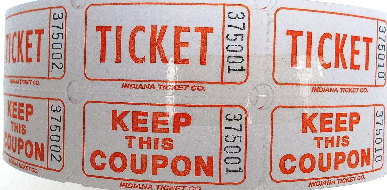 Indiana Ticket Company Raffle Tickets 2000 Per Roll, Pink