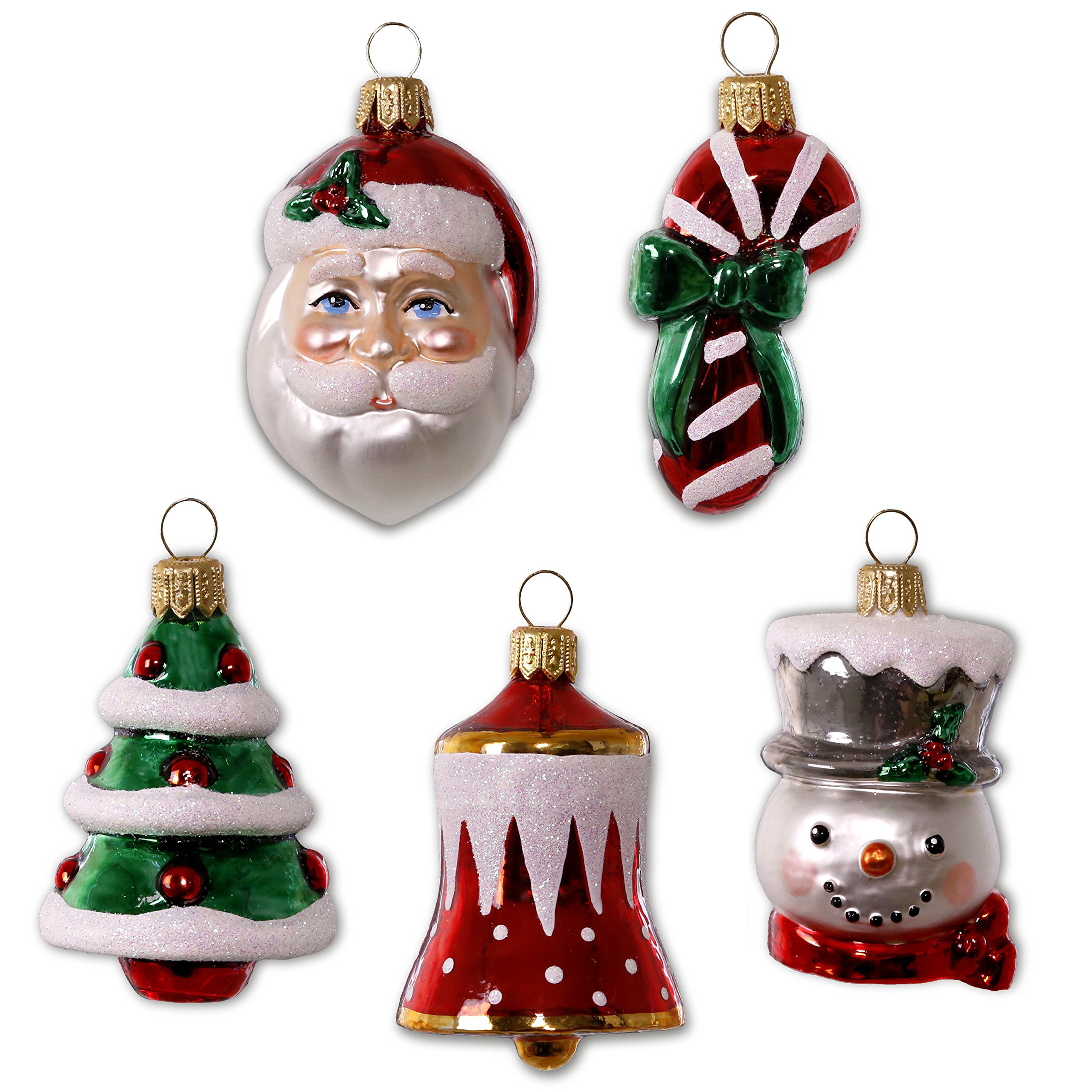 Hallmark Keepsake 2017 Symbols of the Season Premium Mini Blown Glass Christmas Ornaments, Set of 5