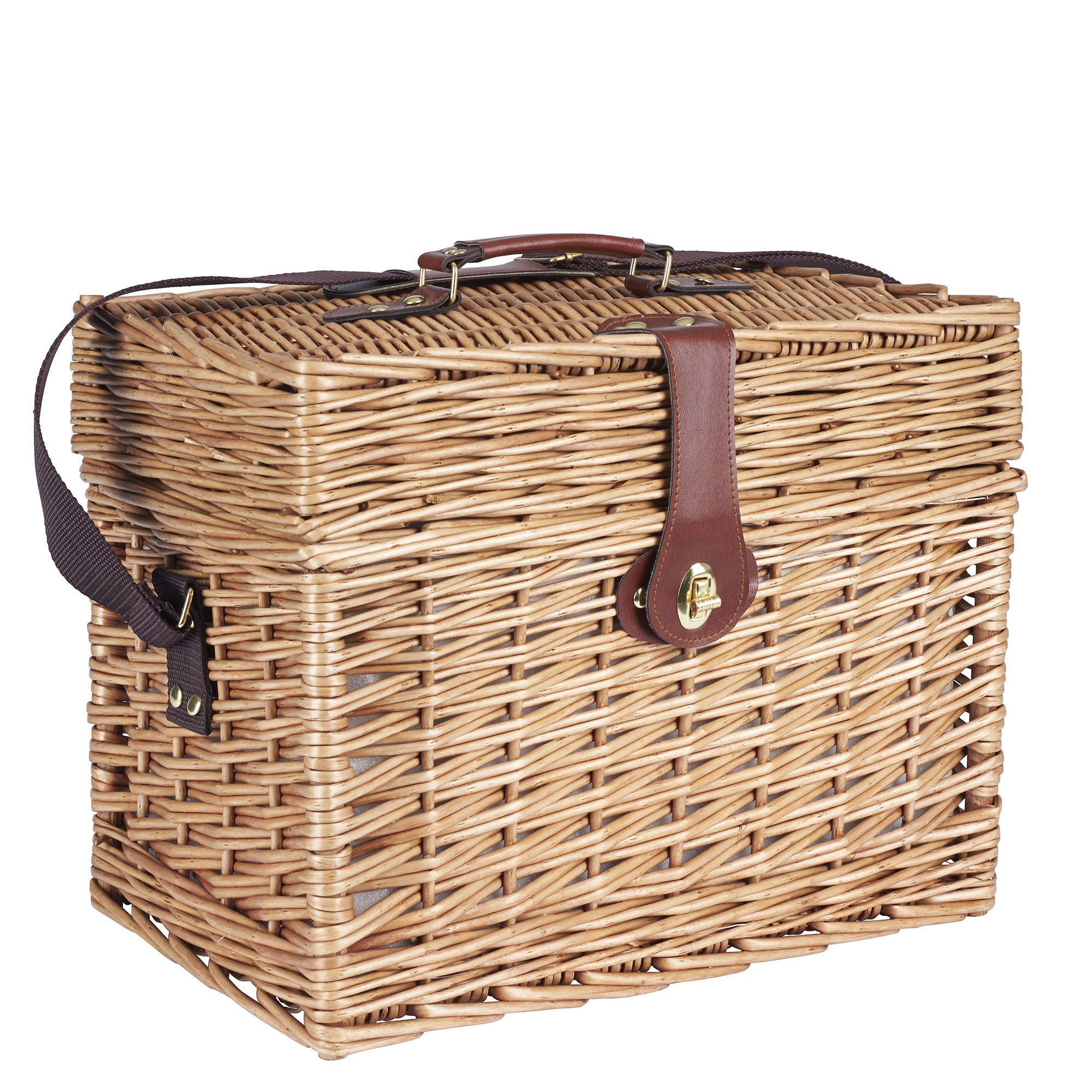 Household Essentials ML-2650 Walden Picnic Basket with Picnic Blanket