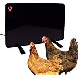 Cozy Products Safe Chicken Coop Pet Heater 200W Flat Panel Technology, One Size, Black